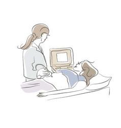 Having Ultrasound vector image