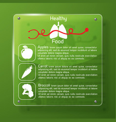 Healthy food infographics layout vector