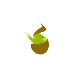 kiwi fruit splash logo vector image