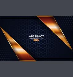 luxurious premium dark navy abstract background vector image