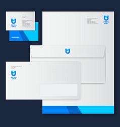 m u letter monogram corporate style vector image