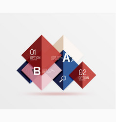 Modern flying square infographic vector