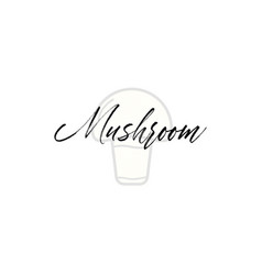 mushroom word on background fruit vector image