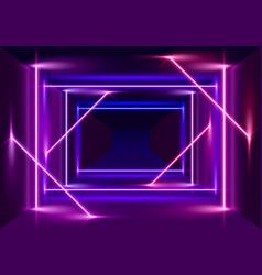 neon scene laser show vector image
