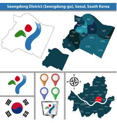 seongdong district seoul city south korea vector image
