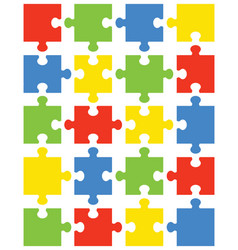 Separate pieces of colorful puzzle vector