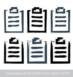 Set of hand-drawn simple prescription pads brush vector