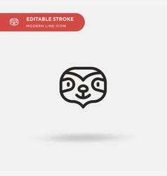 Sloth simple icon symbol vector