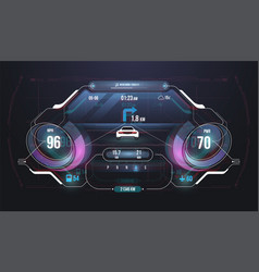 speed hud kilometer performance indicators vector image