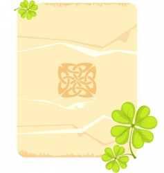 St patrick's day card vector