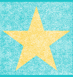Star from hollywood walk fame vector