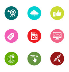 Streamline icons set flat style vector