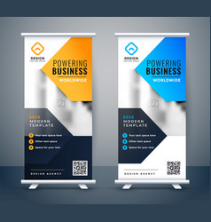Stylish company business roll up banner design vector