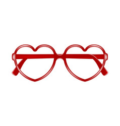 Sun glasses frame in shape of heart without lenses vector
