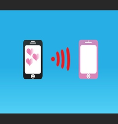 telephone love send to love vector image