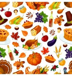Thanksgiving day traditional celebration pattern vector