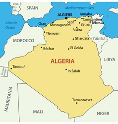 The Peoples Democratic Republic of Algeria vector image
