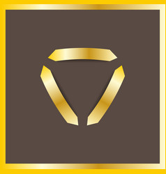 Trinity arrow reactor logo luxury royal gold metal vector