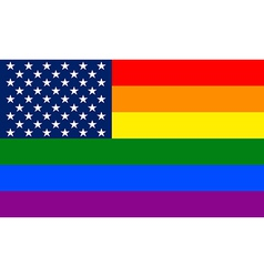 United States Gay flag vector image