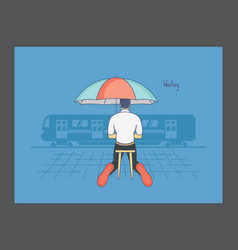 Waiting icon vector