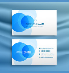White and blue dots business card design template vector