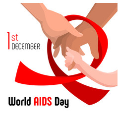 World aids day concept background cartoon style vector