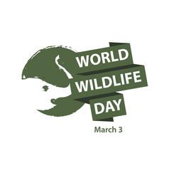 World wildlife day logo template design vector