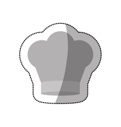 Dotted sticker of chefs hat in crown shape vector