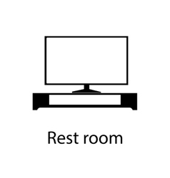 Home and hotel rest room interior with furniture vector image