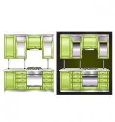 modern kitchen vector image vector image