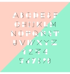 Modern trendy geometric font vector image vector image