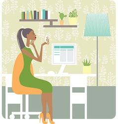 woman working vector image vector image