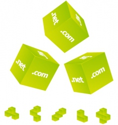 3d cubes set vector image vector image