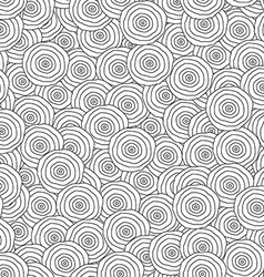 abstract monochrome circles seamless pattern vector image