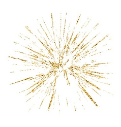 Broken glass hole grunge texture gold white sketch vector image