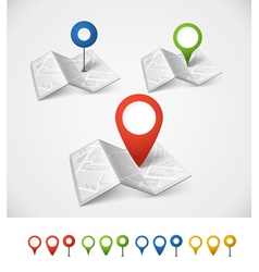 Folded abstract city map vector image
