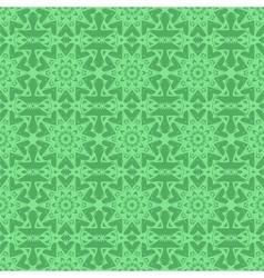 Green endless texture oriental geometric ornament vector