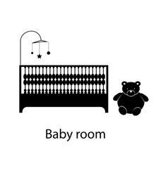 Home and hotel baby room interior with furniture vector image vector image