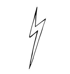 Lightning bolt doodle hand drawn vector image vector image