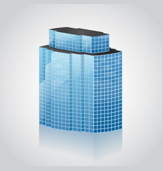 modern office building vector image