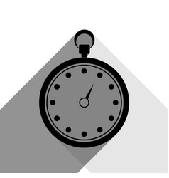 stopwatch sign black icon vector image vector image