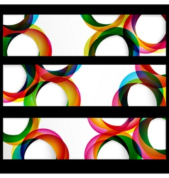 Abstract circles banner vector image vector image