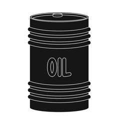 barrel of oiloil single icon in black style vector image