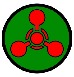 chemical weapon symbol vector image vector image