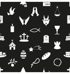 christianity religion symbols black and white vector image