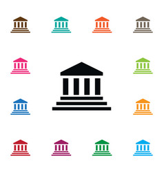Isolated court icon bank element can be vector