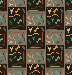 The pattern of abstract elements vector image vector image