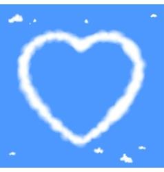 Cloud heart vector image