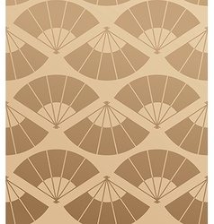 Elegant Japan fan seamless pattern vector image vector image