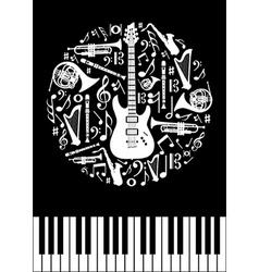 Music concept circle vector image